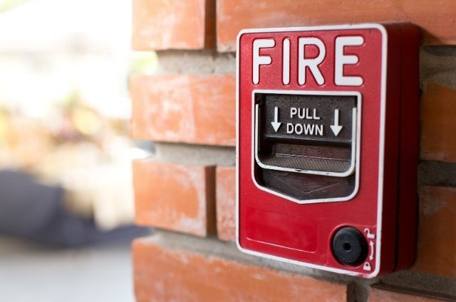 fire alarm, an active fire protection