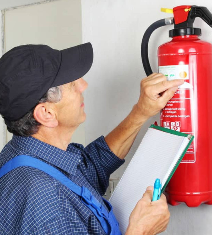 fire extinguisher inspector checking date
