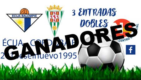 GANADORES 3 ENTRADAS DOBLES