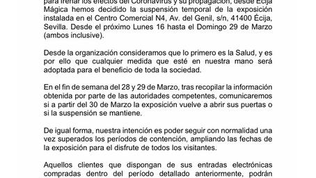 ¡Comunicación Oficial! Centro Comercial N4