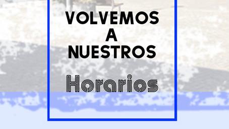 Nuevos Horarios