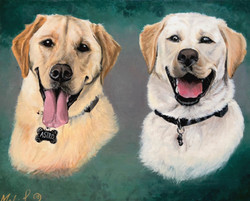 """""""Astro and Comet"""" commissioned portrait"""