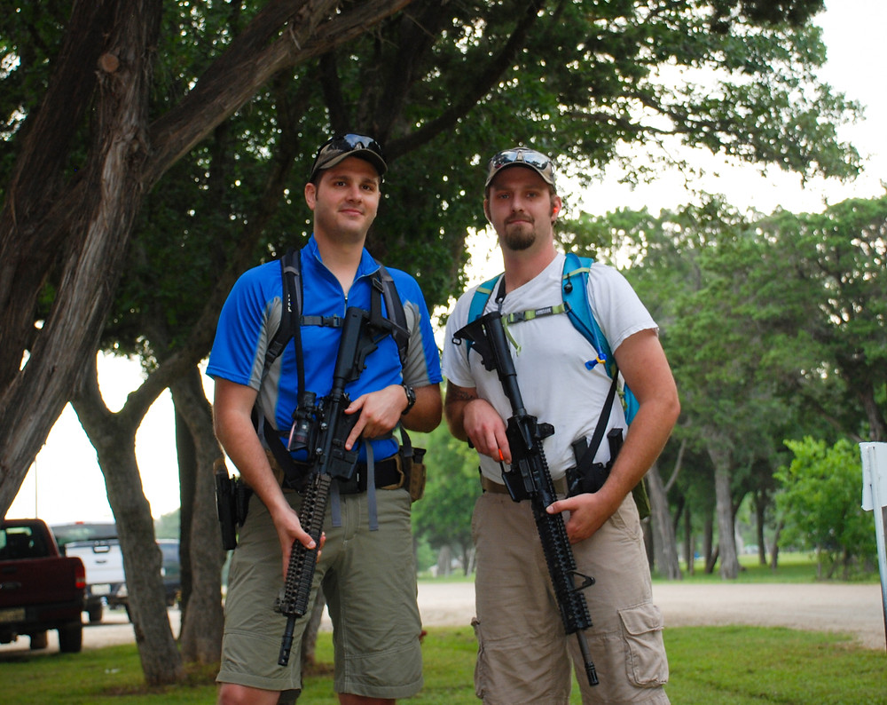 Two guys ready for their Run and Gun