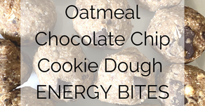 Oatmeal Chocolate Chip Cookie Dough Energy Bites