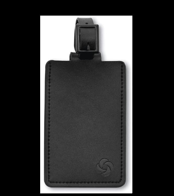 Black samsonite luggage tag