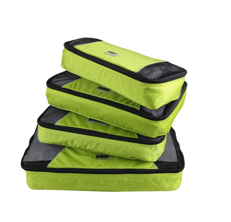 Gox packing cubes as a travel accessory