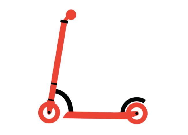scooter as a city transportation