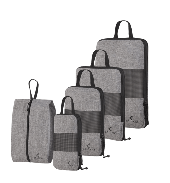Coltant packing cubes as travel accessory