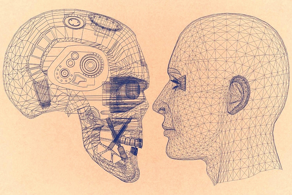 Human facing robot , communication