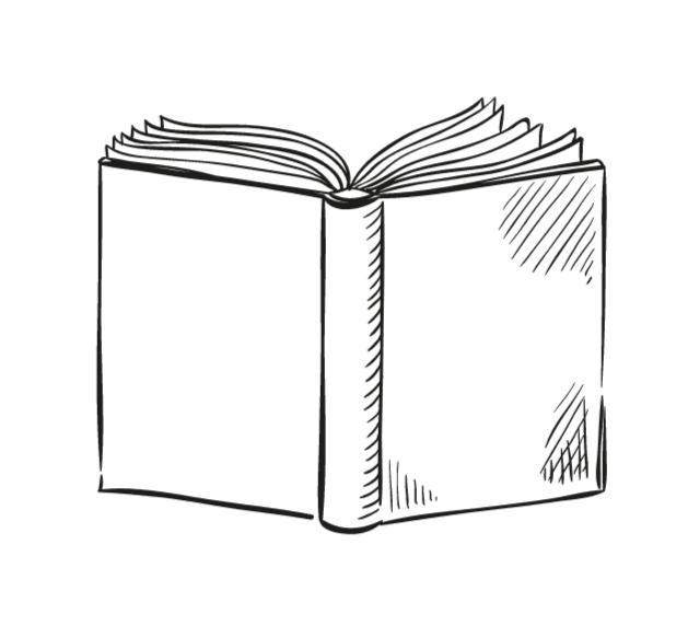 drawing of a book