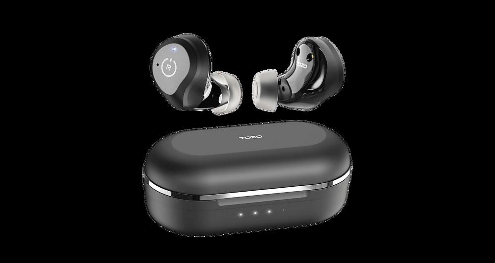 Wireless Tozo NC9 earbuds, best travel accessory on Amazon
