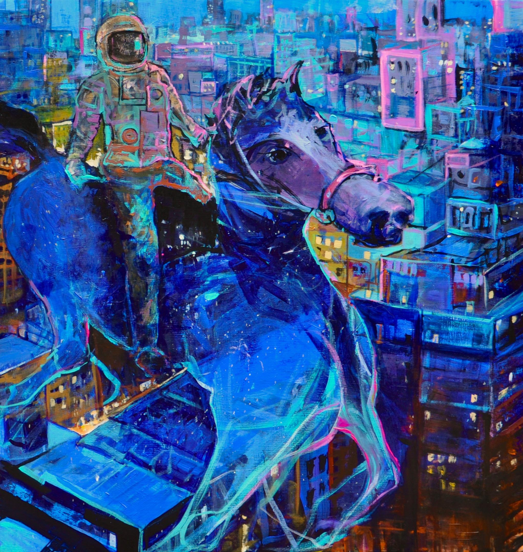 John rides city horse