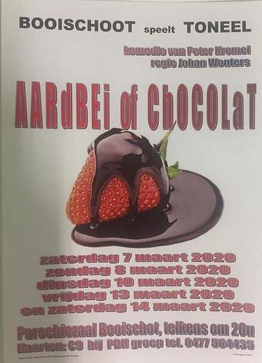 Aardbei of Chocola Booischots toneelgeze
