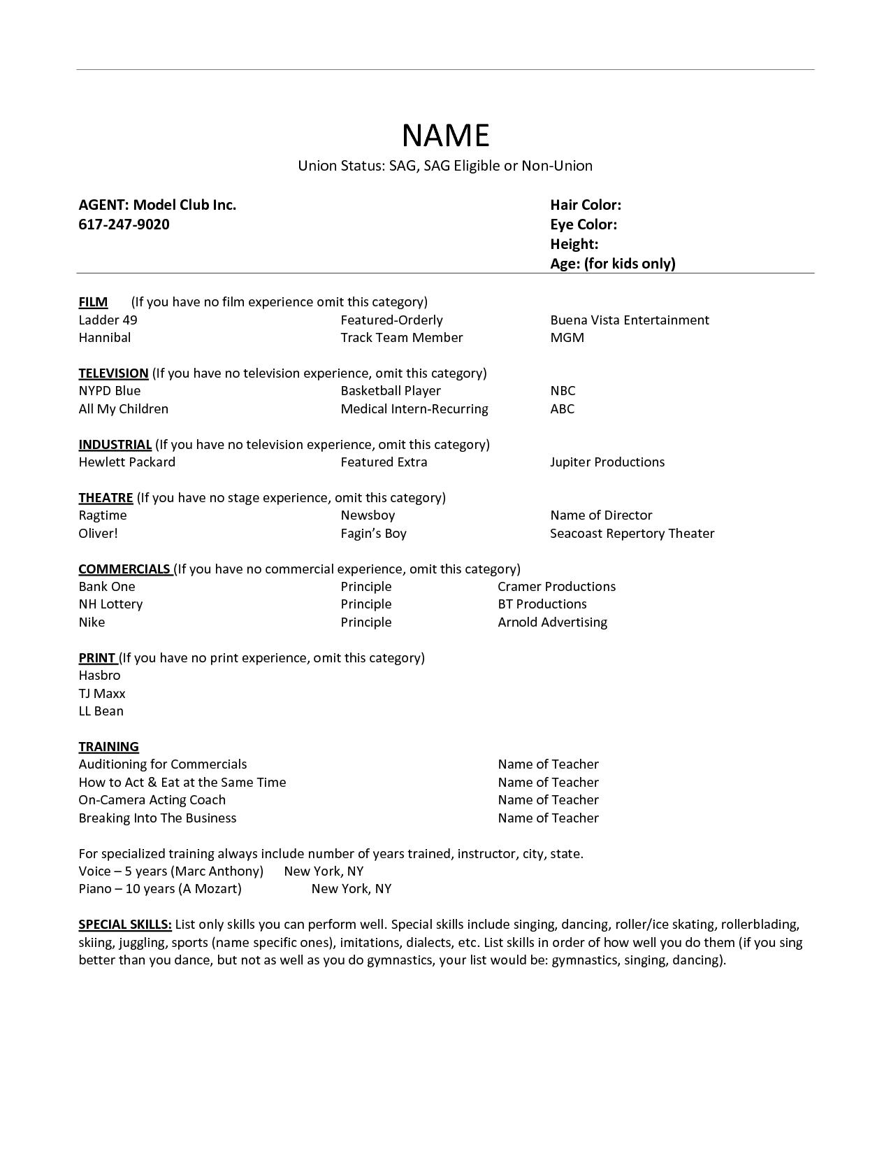 Formatting Your Resume