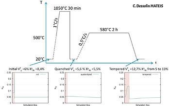 Simulation des fractions de phases au cours d'un cycle thermique