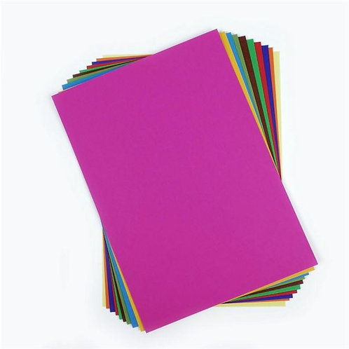 A4 Tropical Coloured Card  - Pack of 10 sheets