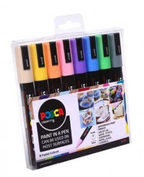 Posca Pastel Colour Marker – Assorted set of 8