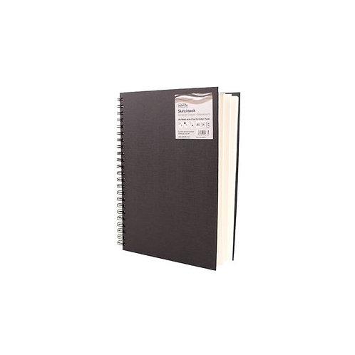 A4 Super Brit Book, Black Cover