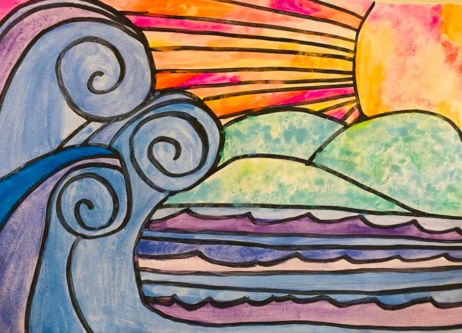 13-15 yrs- Seascape Watercolour Workshop