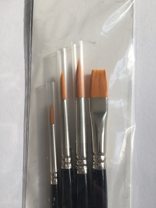 Golden Synthetic Brush Set