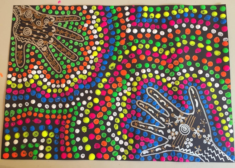 9-12 yrs - Neon Dot Aboriginal Workshop