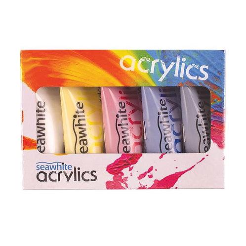 Seawhite Mixing Acrylic Paint Set 5 x 75ml Tubes
