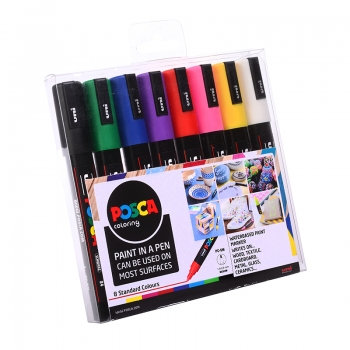 Posca Standard Colour Marker – Assorted set of 8