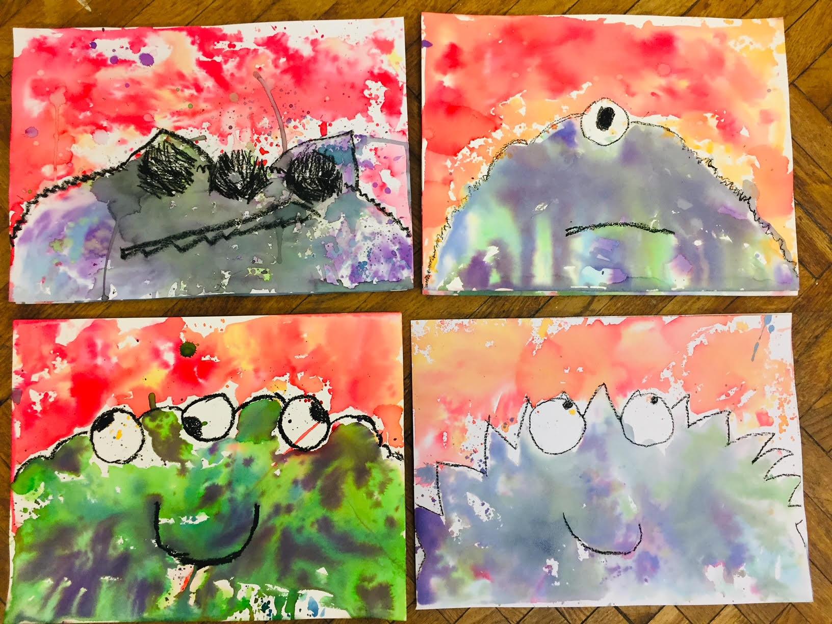 FULL 6-8yrs - Watercolour Monster