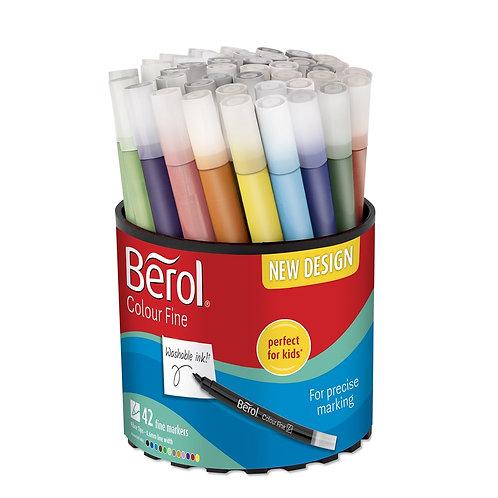 Berol® Colour Fine Pens – Assorted Tub of 42