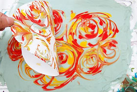 Shaving Cream Marbling Prints