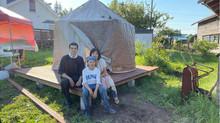 乾燥ドームのカバーが完成しました!