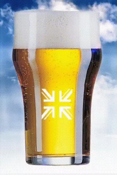 SUTTON ENGLISH HALF-PINT GLASS