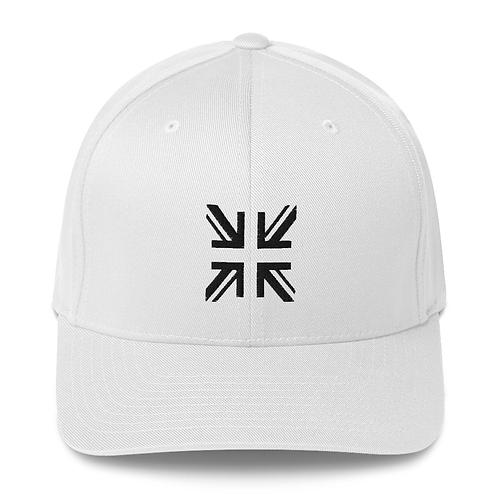 SUTTON FLEX-FIT STRUKTURIERTER TWILL WHITE PREMIUM GOLF HAT