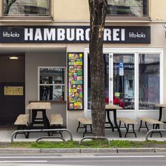 Hamburgerei Facade in Munich