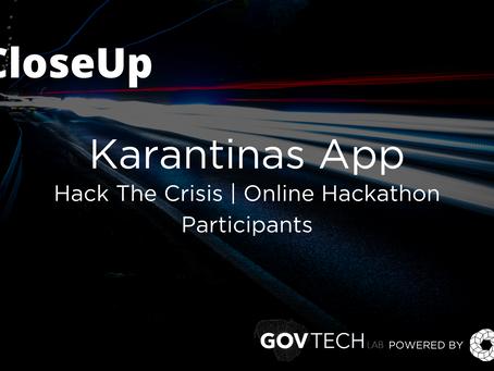 #CloseUp: Karantinas App