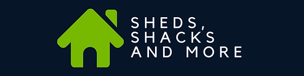 Sheds Shacks and More Logo Large Banner.