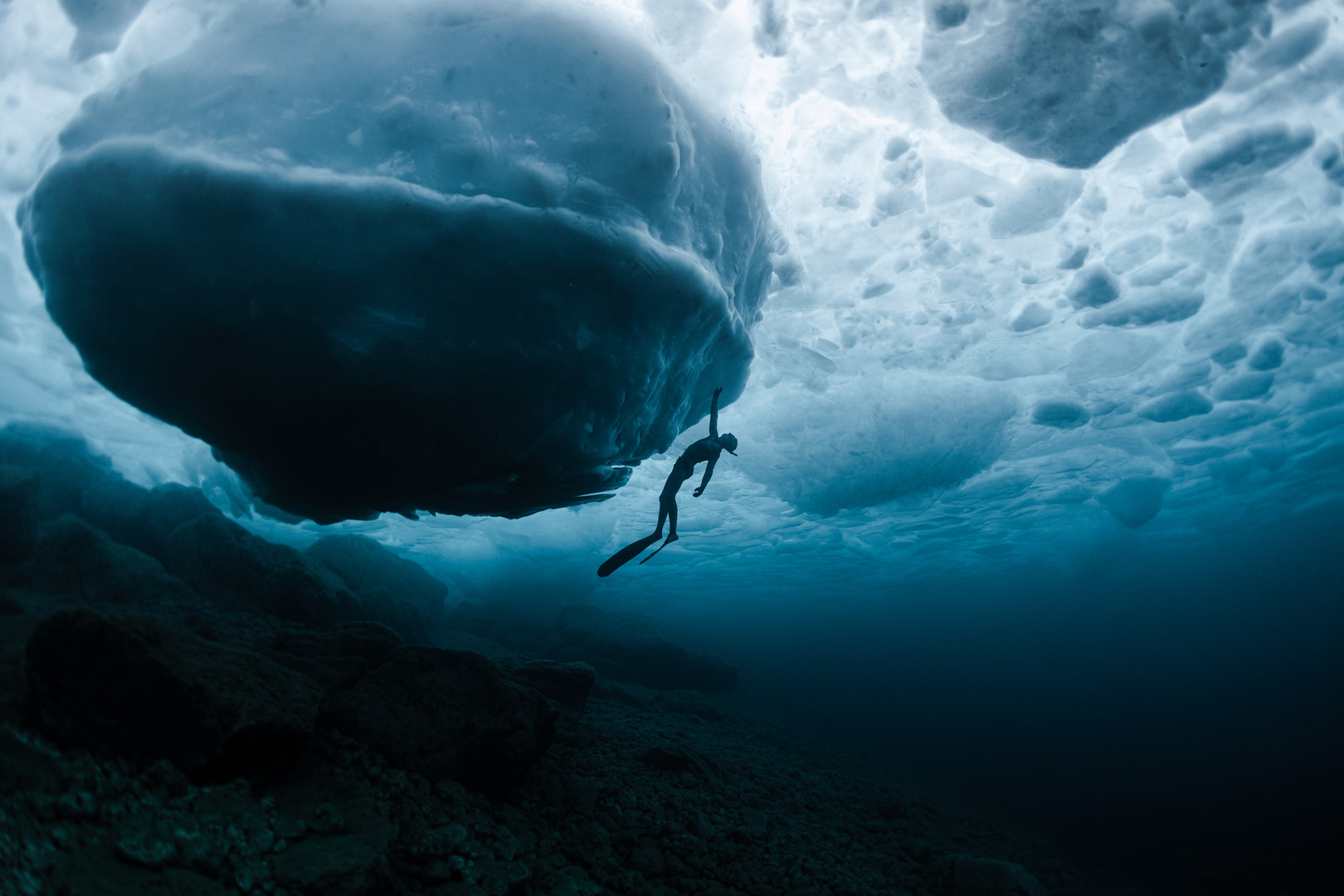 Andrew with giant iceberg