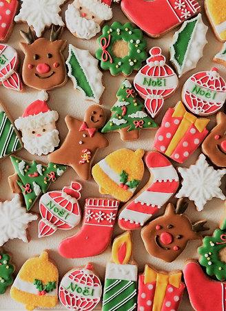 クリスマスのミニアイシングクッキーセット