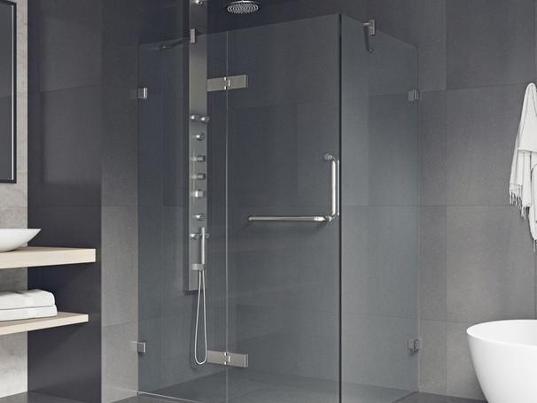 Cabine en verre sans cadre