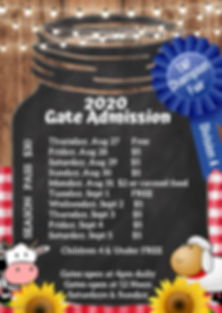2020 Gate Admission - Made with PosterMy
