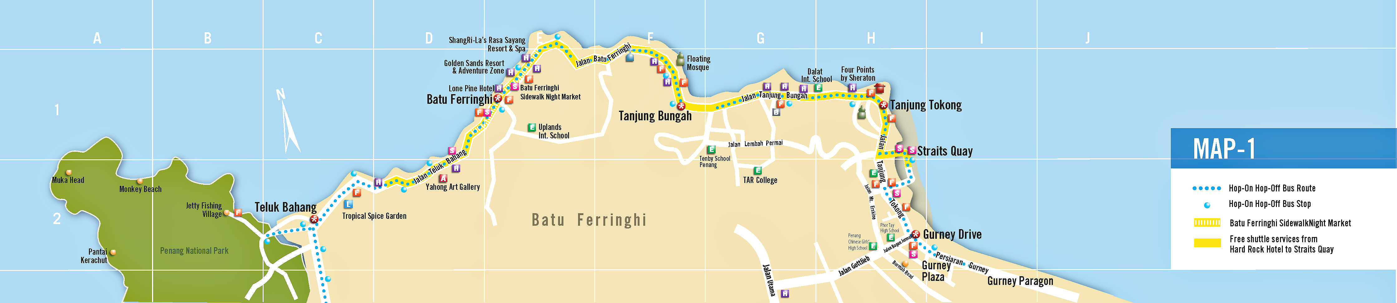 iN Penang FREE map l Latest Penang map for tourists
