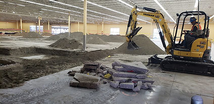 Interior Concrete Demolition Excavation