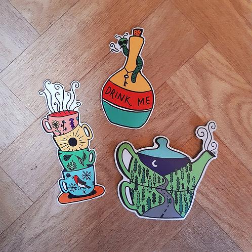 trio world of tea stickers