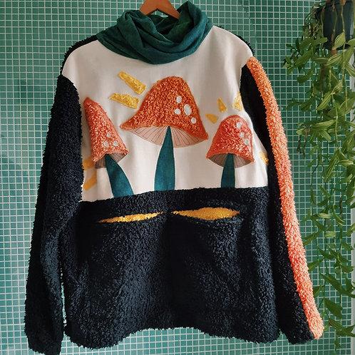 magic mushrooms fluffy organic jumper S/L