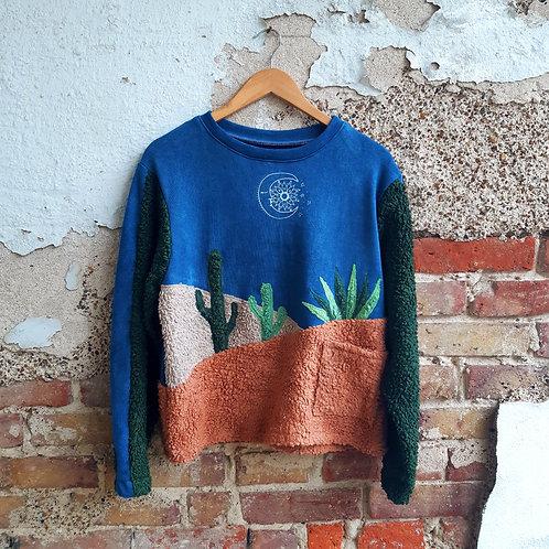 mexico by night fluffy organic jumper