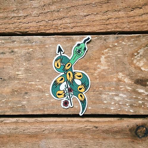mystical cut up snake sticker
