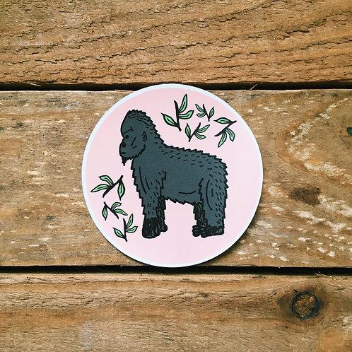 leafy gorilla sticker