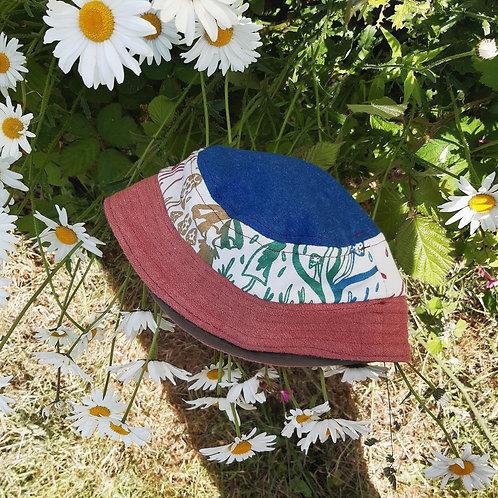 rainbow shrooms hemp/canvas bucket hat