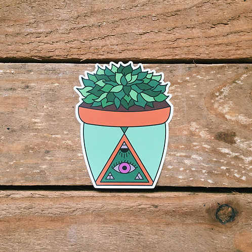 succulent pot sticker