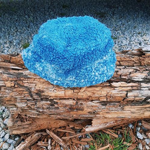 blue lime fluffy/hemp jersey bucket hat